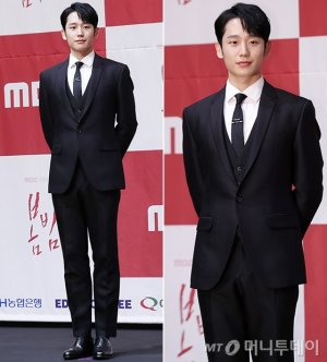'봄밤' 정해인, 완벽한 쓰리피스 슈트…'훈훈'