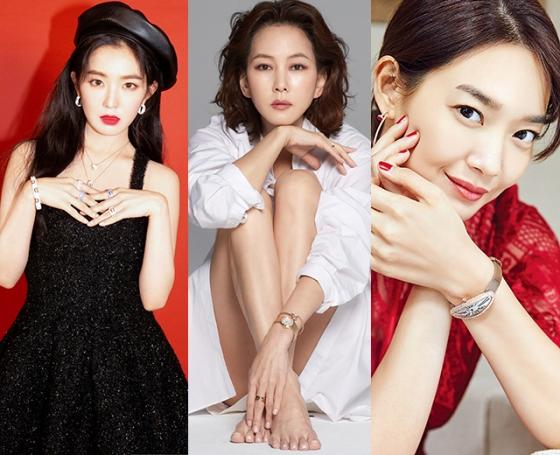 그룹 레드벨벳 아이린, 배우 김남주, 신민아 /사진제공=다미아니, 오메가, 까르띠에