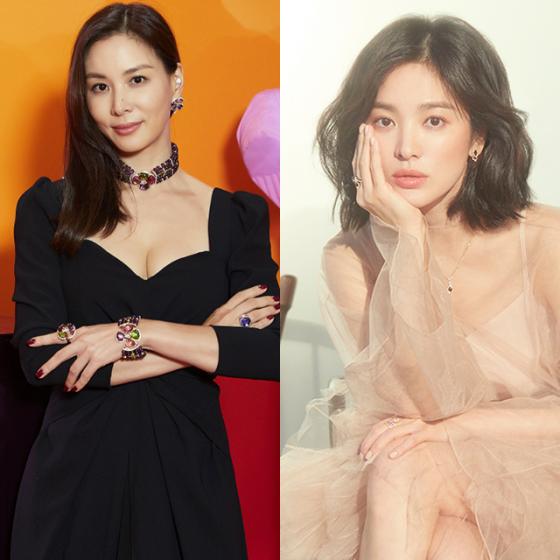 배우 고소영, 송혜교 /사진제공=불가리, 쇼메