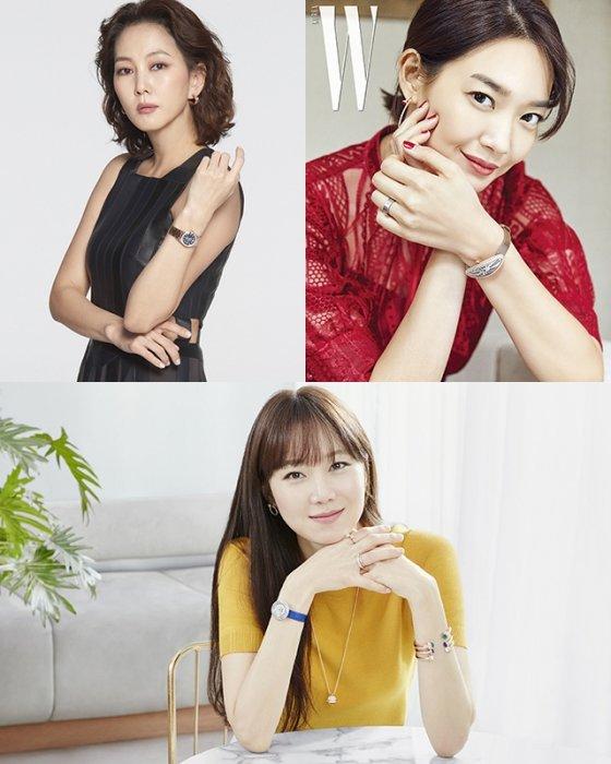 배우 김남주, 신민아, 공효진 /사진제공=오메가, 까르띠에, 피아제