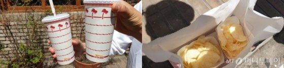 인앤아웃 버거에서 판매한 콜라와 감자튀김의 모습./사진=이호길 인턴기자