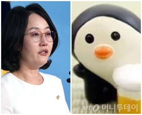 왼쪽부터 김현아 자유한국당 원내대변인, 펭귄문제 관련 펭귄 이미지./사진=머니투데이 DB