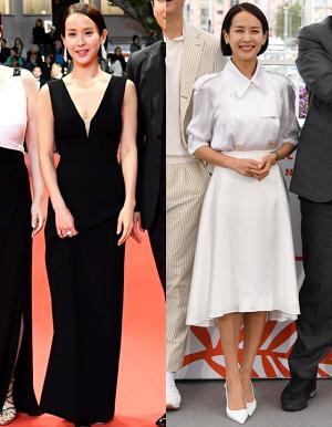 블랙 vs 화이트…조여정 칸 드레스, 우아하거나 청순하거나