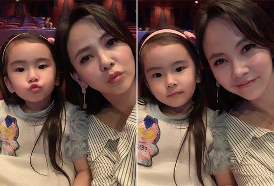 배우 김지우와 그의 딸 김루아나리/사진=김지우 인스타그램