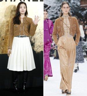 김고은 vs 모델, 크롭트 카디건의 변신…차이점은?