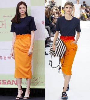차예련 vs 모델, 같은 옷 다른 느낌…포인트는?