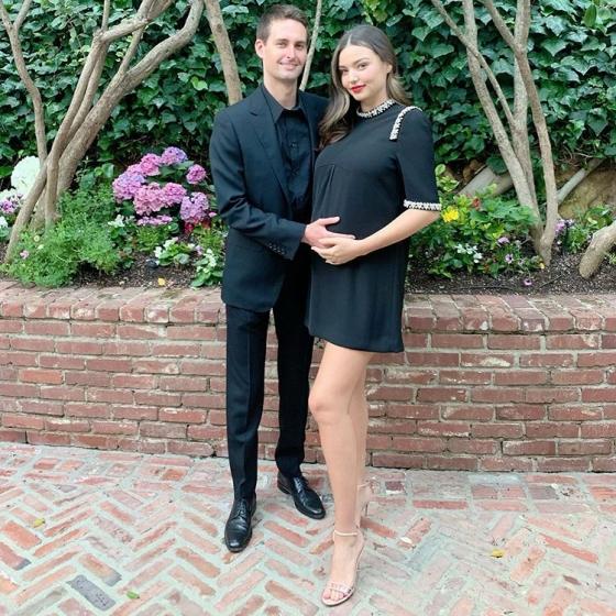 스냅챗 CEO 에반 스피겔과 그의 아내 모델 미란다 커/사진=미란다 커 인스타그램