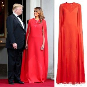 멜라니아 트럼프, 영국 만찬서 입은 '900만원대' 드레스