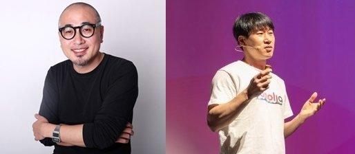 김봉진 우아한형제들 대표(왼쪽)와 이수진 야놀자 총괄대표.