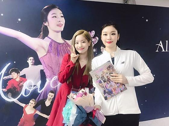 그룹 트와이스 다현, 김연아 전 피겨스케이팅 선수/사진=트와이스 공식 인스타그램