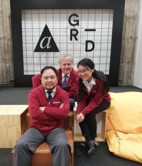 (왼쪽부터)배동훈, 마르띠 메리, 박솔잎 포어싱크 공동창업가. /사진=포어싱크