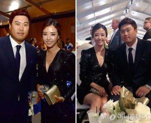 배지현, 류현진과 LA다저스 행사 참석…드레스 룩 '감탄'