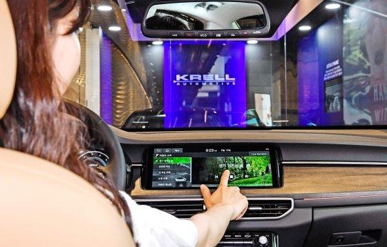 기아차 K7 프리미어에 탑재된 프리미엄 사운드 시스템 크렐(KRELL)./사진제공=현대모비스