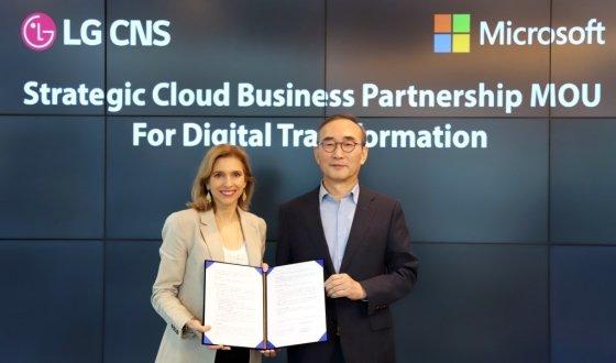 LG CNS, MS와 차세대 업무혁신 솔루션 개발 - 머니투데이 뉴스