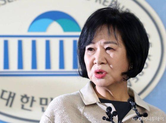 '목포 부동산 투기' 의혹이 제기된 손혜원 의원이 지난 1월20일 국회에서 기자회견을 갖고 있다./사진=이동훈 기자