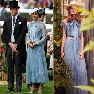 케이트 미들턴 vs 모델, 왕실 행사에 등장한 '시스루 드레스'