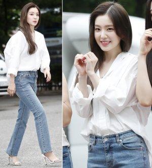 레드벨벳 아이린, 청초한 출근길 패션…