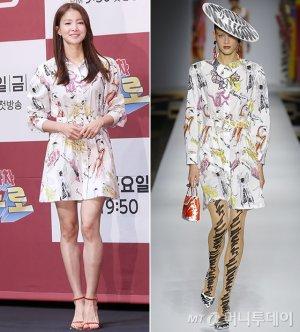 이시영 vs 모델, 같은 옷 다른 느낌…