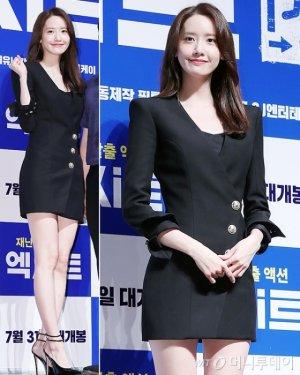 '엑시트' 윤아, 매혹적인 블랙 드레스…