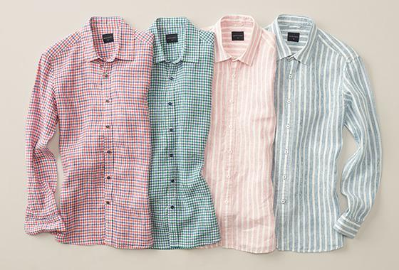 웰메이드 패턴 린넨 셔츠/사진제공=세정