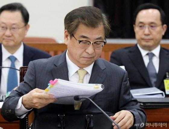 정보위 참석한 서훈 국정원장