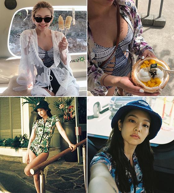 그룹 소녀시대 효연, 블랙핑크 제니/사진=각 스타 인스타그램