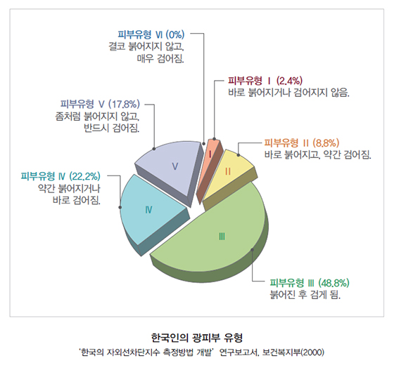 한국인의 광피부 유형/사진=식품의약품안전처