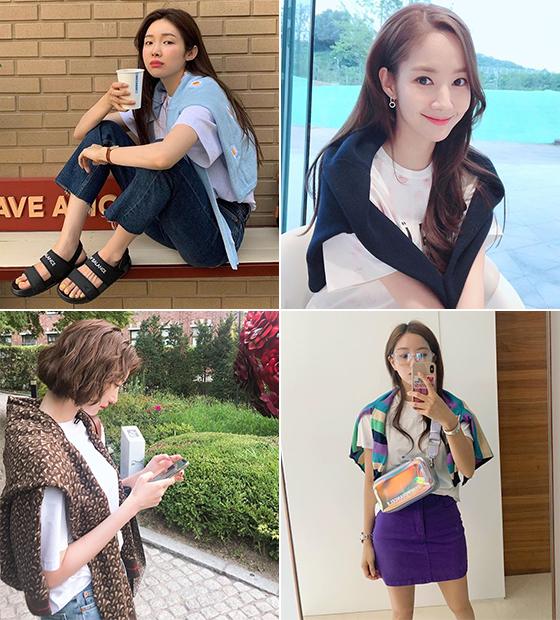 왼쪽부터 시계 방향으로 배우 차정원, 박민영, 가수 효민, 배우 고준희/사진=각 스타 인스타그램