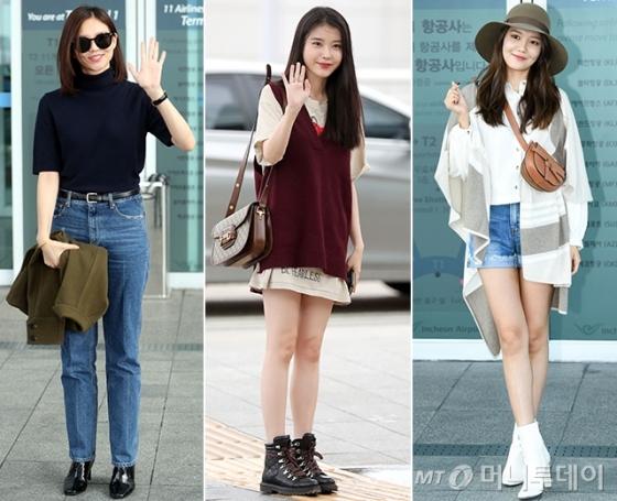 배우 이솜, 아이유, 최수영 /사진=임성균 기자, 헬렌카민스키 제공