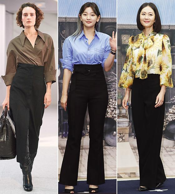 Lemaire 2019 F/W 컬렉션, 배우 박소담, 염정아/사진=르메르, 뉴스1
