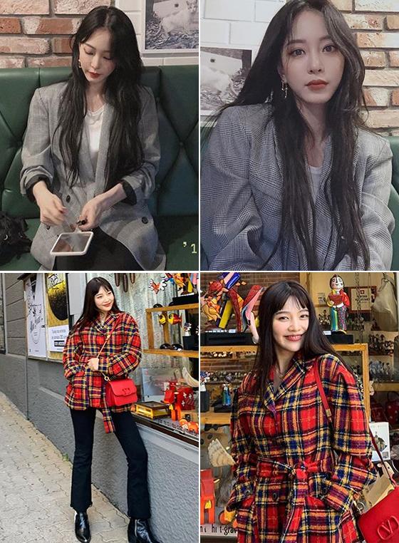 배우 한예슬, 그룹 레드벨벳 조이/사진=각 스타 인스타그램