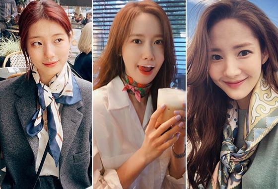 가수 겸 배우 수지, 윤아, 배우 박민영/사진=각 스타 인스타그램