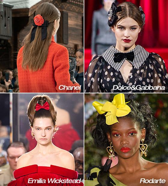 왼쪽부터 시계 방향으로 Chanel, Dolce&Gabbana, Rodarte, Emilia Weakstead 2019 F/W 컬렉션/사진=각 브랜드