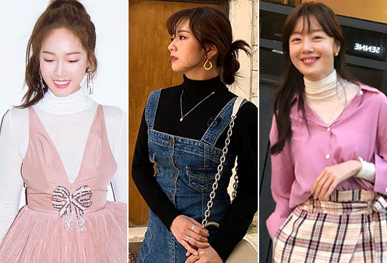 가수 제시카, 에이핑크 윤보미, 배우 한선화/사진=각 스타 인스타그램