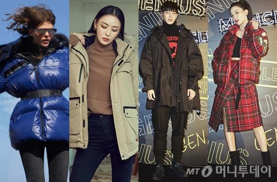 (두번째 부터) 배우 이다희, 지수, 그룹 레드벨벳 슬기 /사진제공=보브, 아이더, 몽클레르