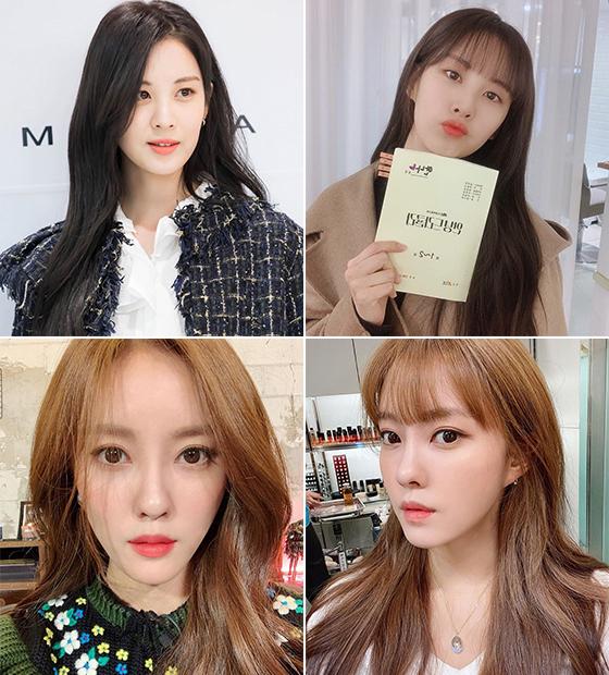 그룹 소녀시대 서현, 가수 효민/사진=각 스타 인스타그램