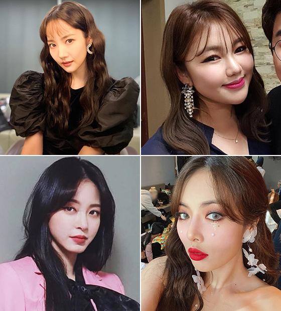 배우 박민영, 가수 송가인, 현아, 배우 한예슬/사진=각 스타 인스타그램