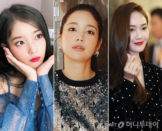 가수 아이유, 배우 기은세, 가수 제시카 /사진=인스타그램, 머니투데이 DB