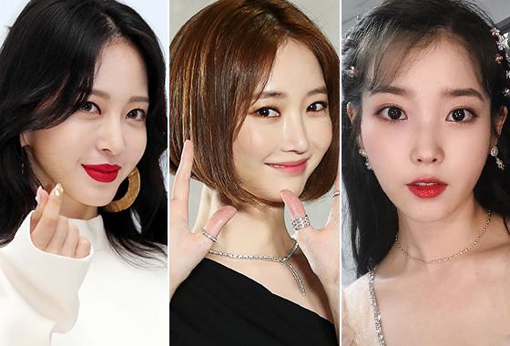 배우 한예슬, 배우 고준희, 가수 아이유/사진=뉴스1, 아이유 인스타그램