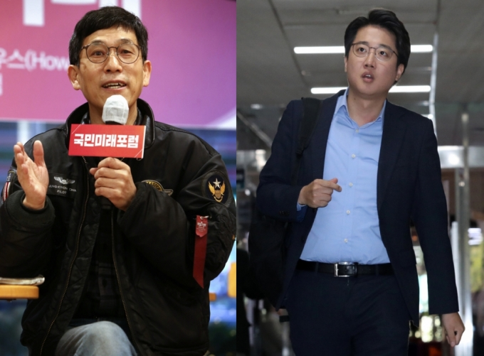 진중권 전 동양대 교수(왼쪽), 이준석 국민의힘 대표(오른쪽) /사진제공=뉴스1