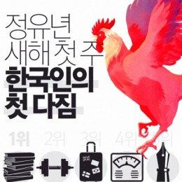 한국인 새해 첫주 첫 다짐, 1위는?