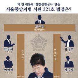 박근혜 전 대통령 '영장심사' 서울중앙지법 서관 321호는?