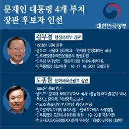 문재인 대통령 4개 부처 장관 후보자 인선