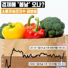 소비자심리지수 '쑥쑥'… 새 정부 정책 기대?
