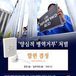 양심적 병역거부 처벌 '합헌' 결정한 헌재, 대체복무 길 열었다
