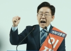 """[풀영상]""""오늘 우리가 이길 것"""" 확신한 이재명, '호남 대전'서 2위 같은 3위"""