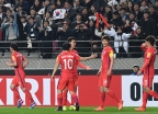 홍정호 선제골로 한국, 시리아에 1-0 리드…전반전 종료