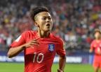 'U-20 월드컵' 한국, '에이스' 이승우 선제골로 전반전 1-0