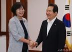 국회의장 예방한 이정미 신임대표