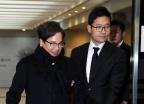 이재현 CJ그룹 회장, 지팡이 짚고 장모 빈소 찾아
